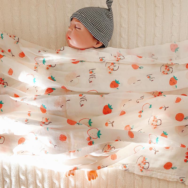 宝宝浴巾包巾婴儿纯棉纱布竹纤维新生儿婴儿襁褓包被盖毯超薄单层
