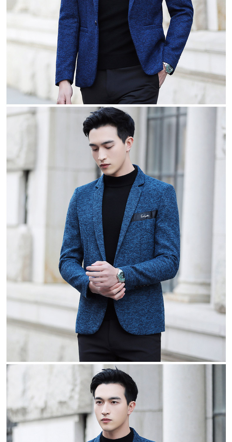 Suit male Korean version of the casual small suit green Chinese New Year's Eve a handsome trend of Western students men's single Western coat 34 Online shopping Bangladesh