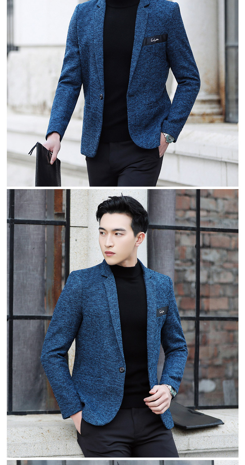 Suit male Korean version of the casual small suit green Chinese New Year's Eve a handsome trend of Western students men's single Western coat 35 Online shopping Bangladesh