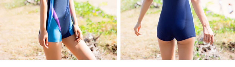 专业游泳衣女士学生遮肚保守大胸大码韩国温泉运动连体平角裤泳装6张