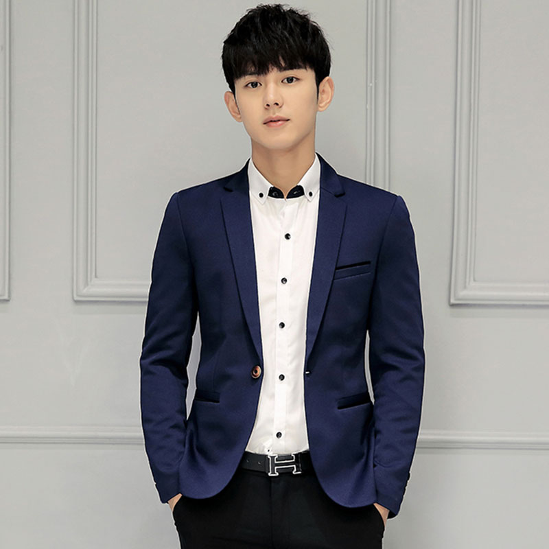 Spring Korean Slim Suit Men's Casual Suits Youth Small Suits Men's Professional Wear Single Western Tops Large Size Jackets