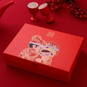 回礼袋结婚手提袋 中国风婚庆伴手礼喜糖盒纸质糖盒礼盒糖袋婚礼