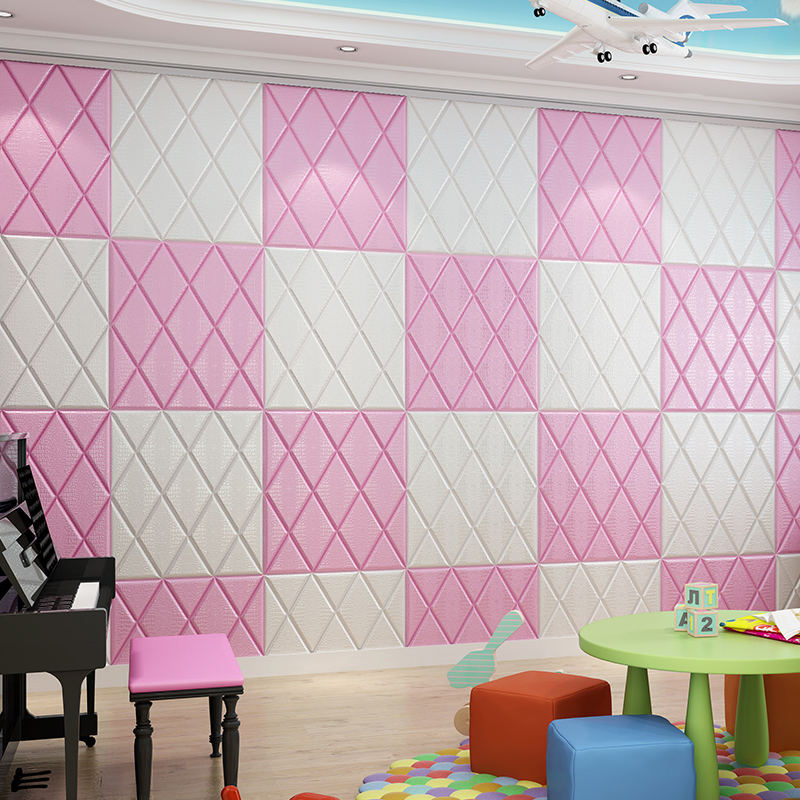 Self-adhesive wallpaper 3d stereo wall stickers TV background wall ...