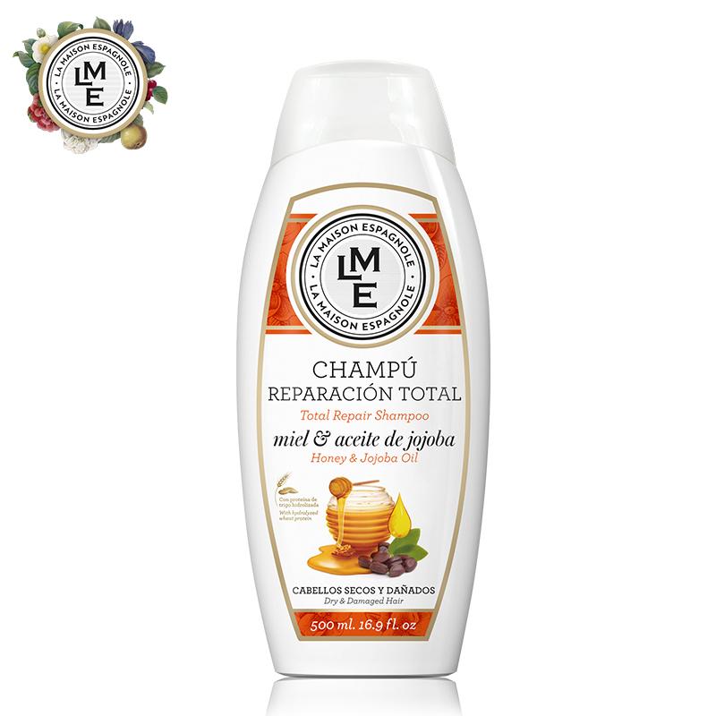 西班牙进口LME蜂蜜荷荷巴油无硅油洗发水柔顺滋养修复受损发质