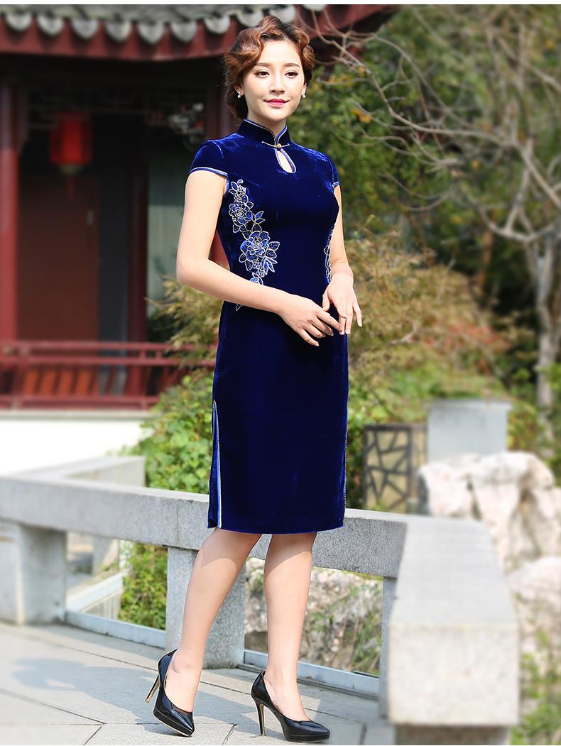 香绣羽旗袍--灵羽牡丹 - 花雕美图苑 - 花雕美图苑