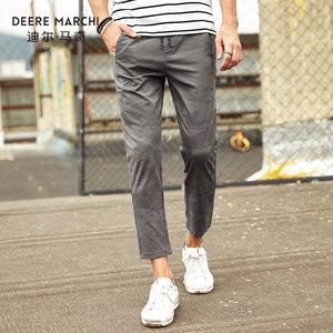 迪尔马奇17夏季新款男士休闲长裤 直筒修身迷彩薄款男裤潮M16922