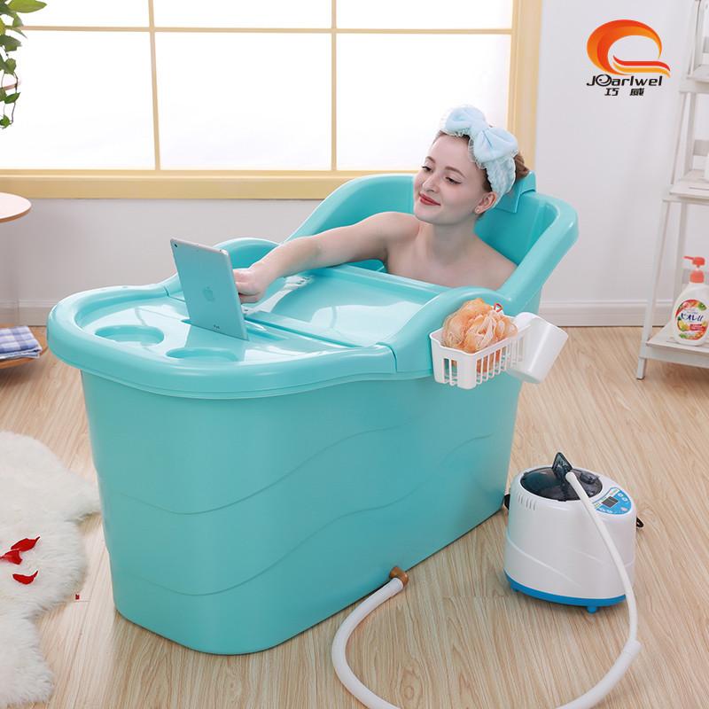 Qiaowei bath barrel extra large length adult bath barrel thickening bath barrel children bath tub barrel home bath