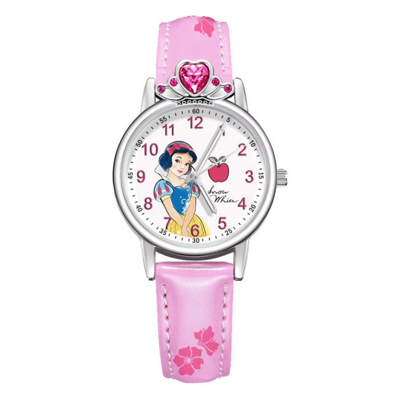迪士尼儿童手表女孩防水夜光韩版简约初中小学生可爱女童女生手表