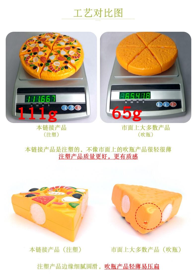 儿童切切乐水果厨房披萨雪糕玩具扮家家酒仿真披萨切切看幼儿园玩具详细照片