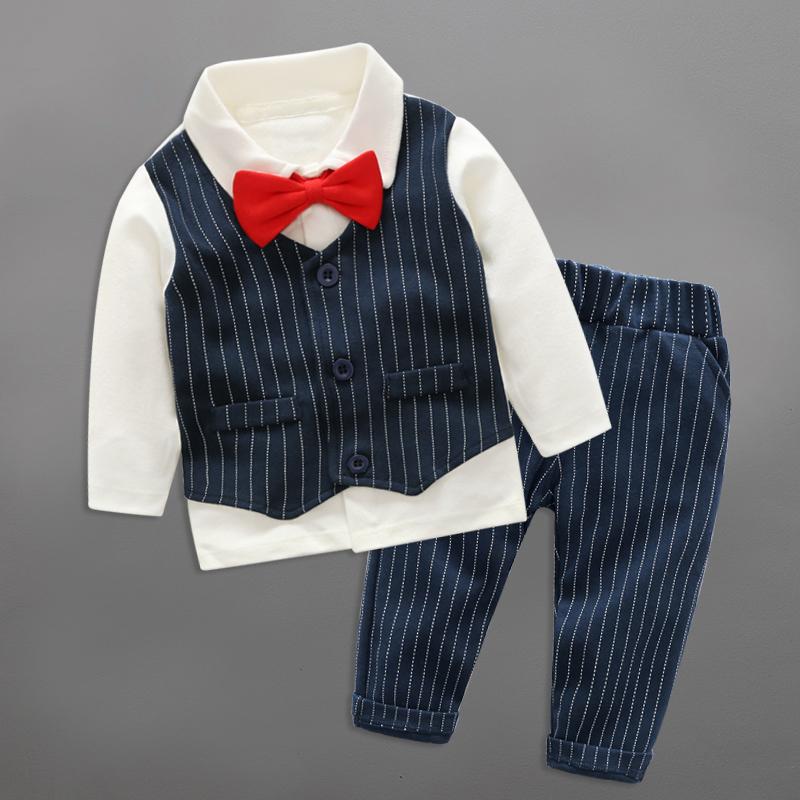 婴儿衣服春秋装男外出套装0一123岁韩版潮宝宝宴会服装周岁西礼服