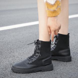 新券!妙钻-马丁靴女袜靴短靴