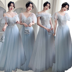 Evening dress prom gown Bridesmaid Dress spring Bridesmaid group sisters dress birthday party long annual meeting evening dress female