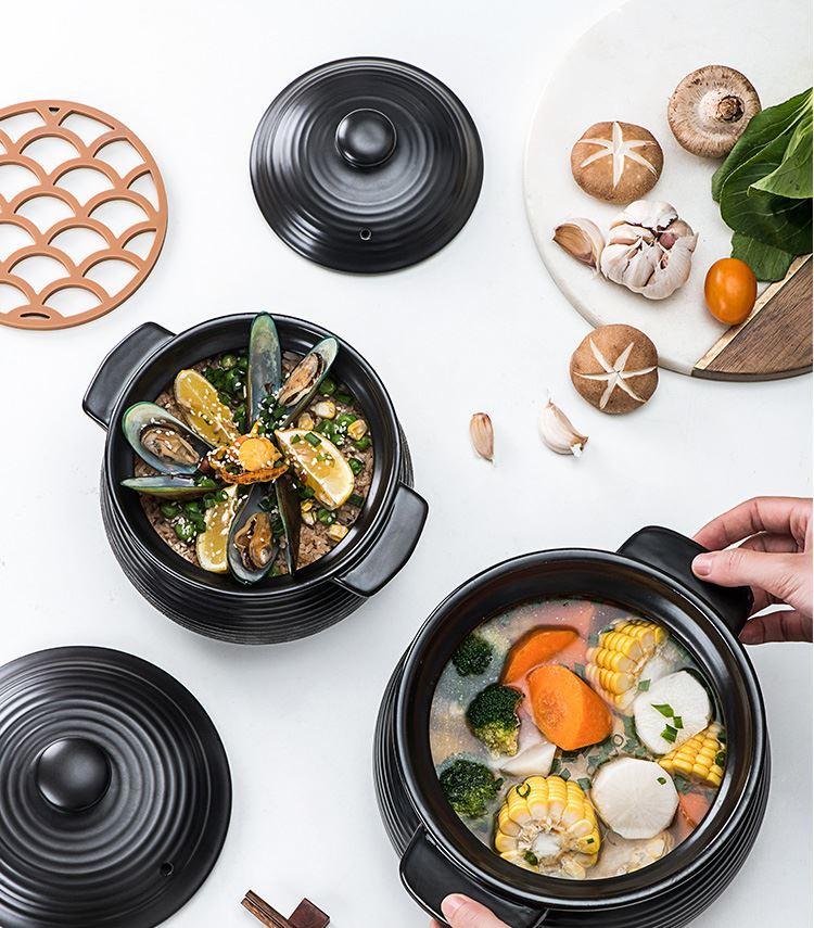 Ceramic casserole ltd. induction cooker stew pot soup kitchen'm gas general casserole tile soup rice casseroles stone bowl with rice