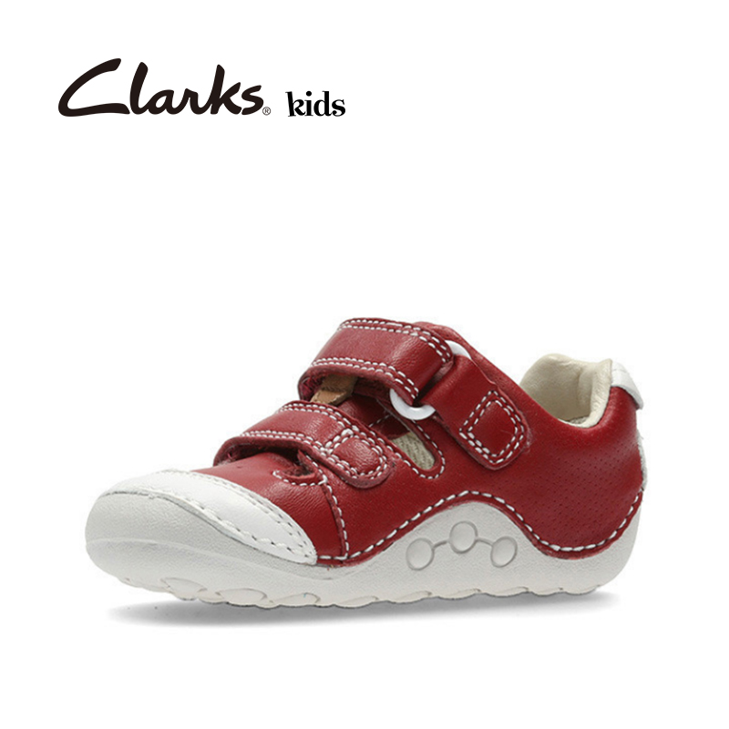 Clarks with her children's shoes boys