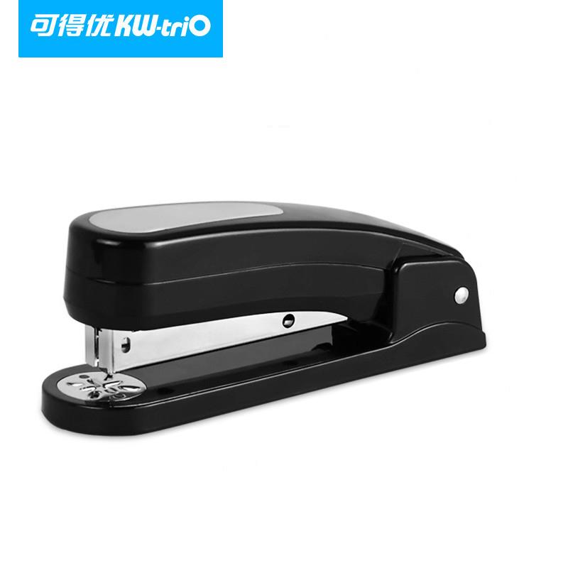 可得优大号省力订书机 中缝订书器360度旋转订书机加厚 旋转