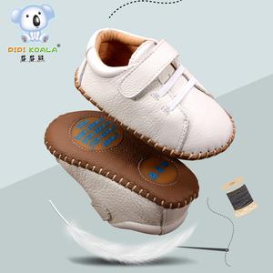 屁屁熊秋冬6-12個月學步鞋男寶寶鞋子軟底嬰兒不掉鞋0-1-3歲皮鞋