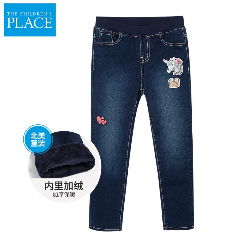 美国 The Children's Place 19年新款 加绒加厚 女童牛仔裤 天猫优惠券折后¥59包邮(¥199-140)男童款同价