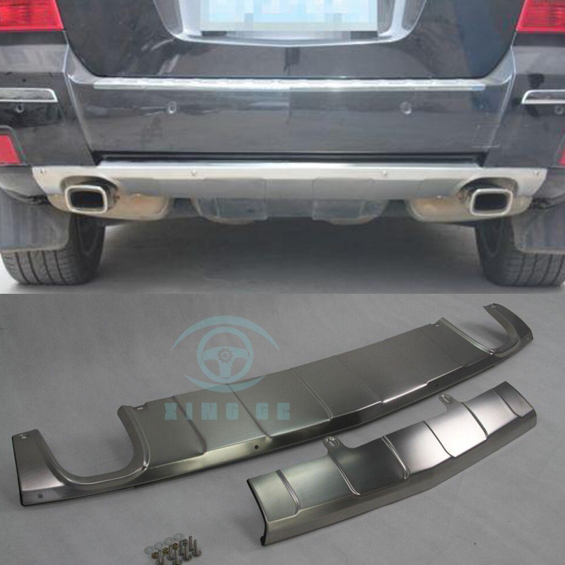 FOR 09-15 MERCEDES-BENZ GLK STAINLESS STEEL DUAL-BAR REAR BUMPER PROTECTOR GUARD