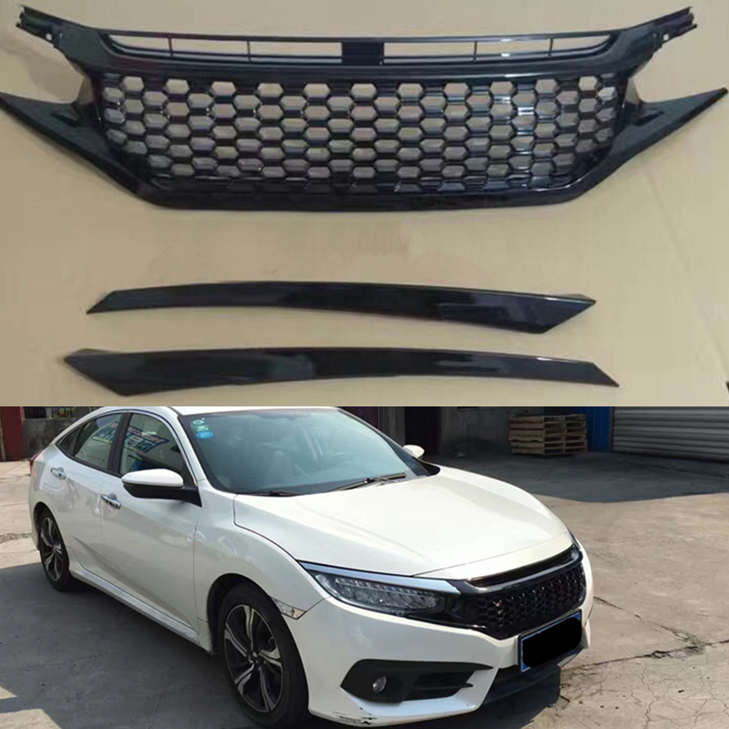 Black Front Grill Mesh Grilles Honeycomb Insert Refit For