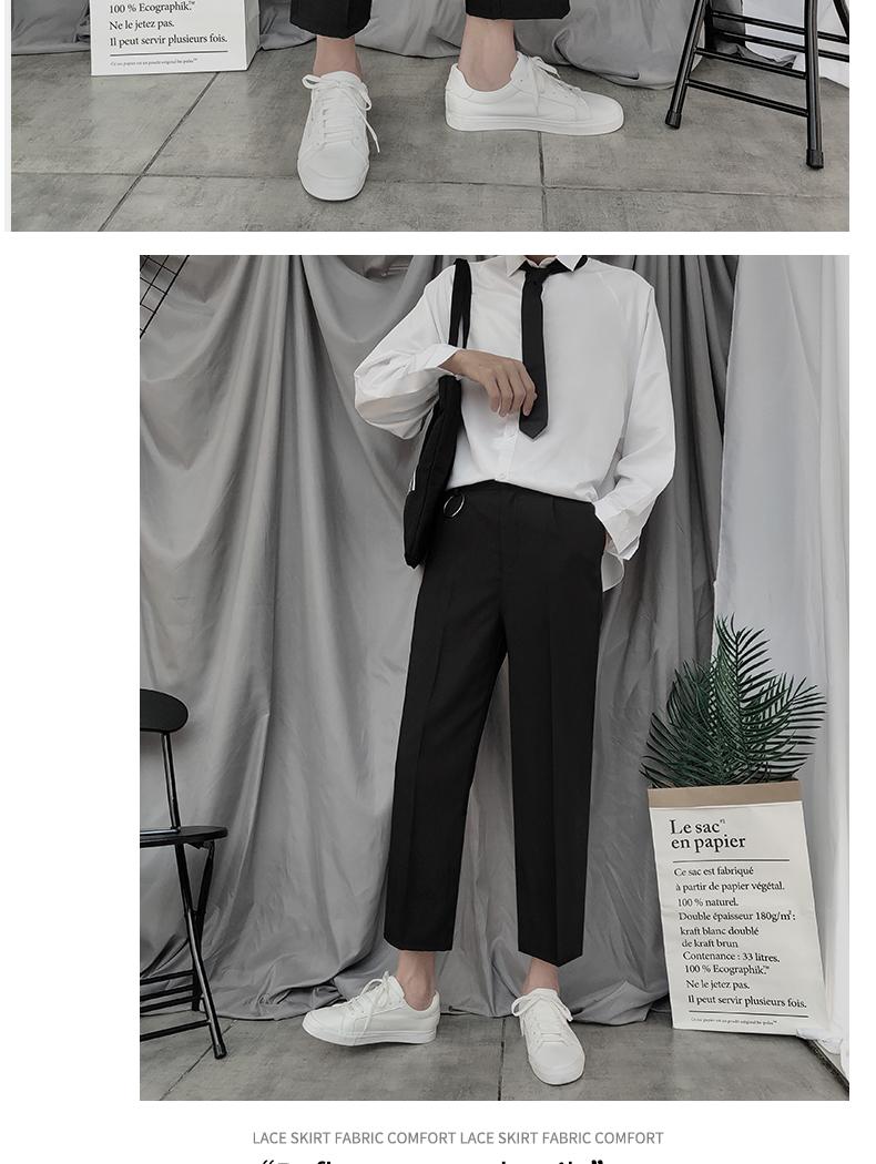 Quần ống rộng 9 điểm cho bé trai của Diablo Xu hướng quần ống rộng cạp cao Hàn Quốc theo phong cách quần ống rộng - Quần Harem