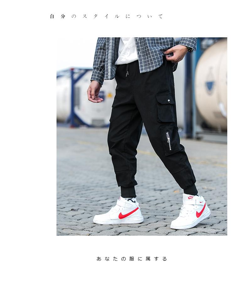 2019春季男士新款潮流时尚港风青少年学生帅气休闲工装裤K939-P45