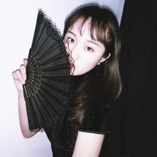 Другие вееры,  Танец китайский одежда строка вентилятор похвалы веер черный костяной сложить вентилятор jk кружево китайский ветер древность китайский стиль женщина пирсинг перейти следовать, цена 192 руб