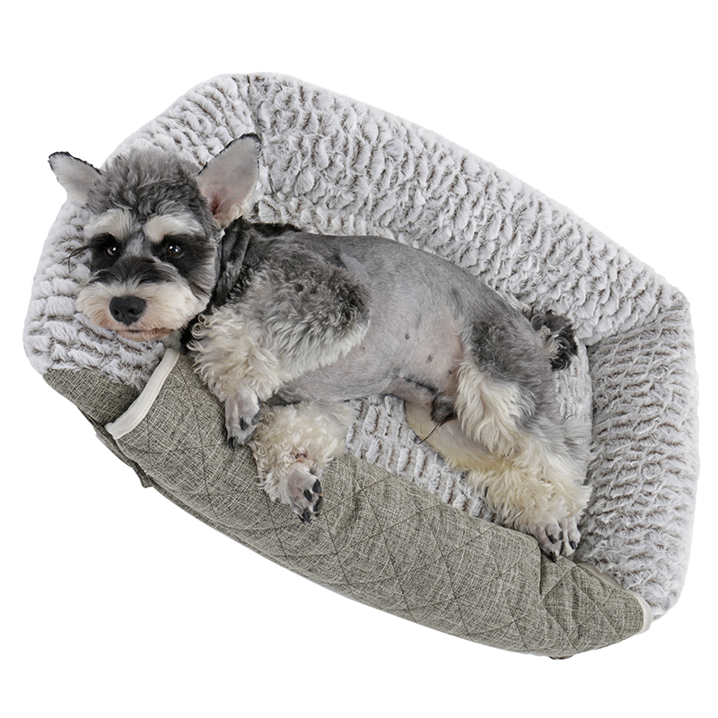 Pet Dog Cat Sofa Bed Pv Cosy Sheepskin Fold Out Couch Chair Protector Grey Ebay
