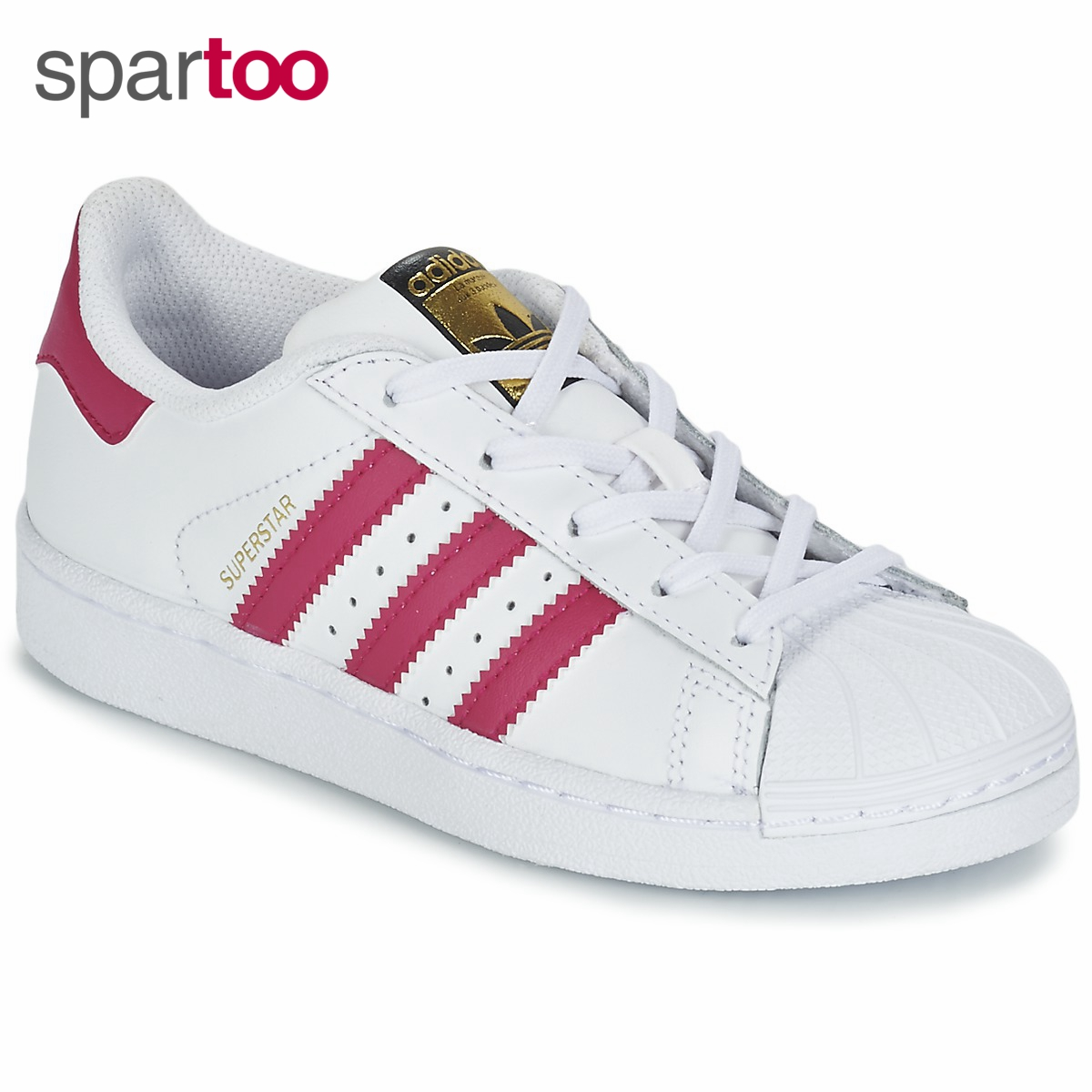 Adidas/阿迪达斯三叶草SUPERSTAR 女金标贝壳头运动休闲板鞋