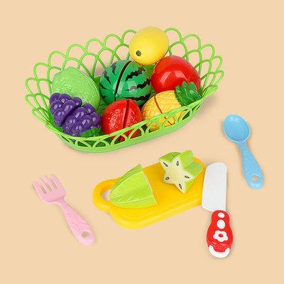 三只松鼠儿童水果切切乐玩具过家家女孩仿真厨房蔬菜做饭套装组合