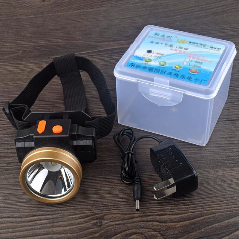 LED头灯强光充电式戴式手电筒
