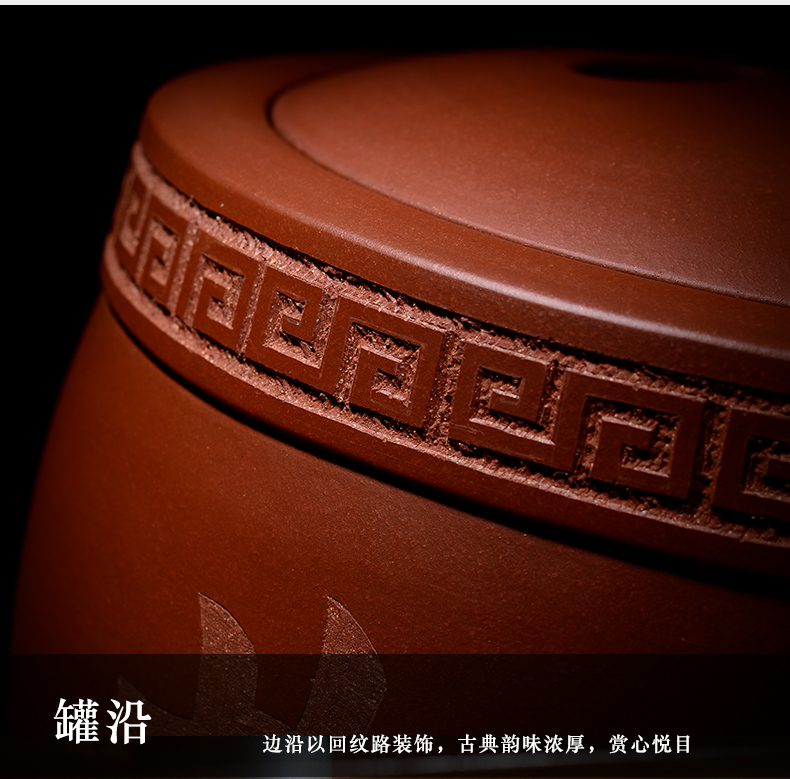 Shadow at yixing undressed ore violet arenaceous caddy fixings practical pu - erh tea storage POTS super - sized tea urn of household ceramic jar of HZ
