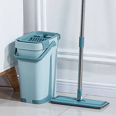Scraping music mop hands-free washing flat mop rotation household lazy mop mop squeeze water mop bucket shake net red