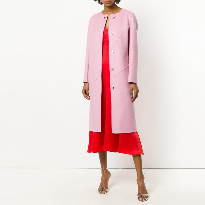 双面羊绒新款外套秋冬披风时尚修身欧美羊毛大衣女中长款