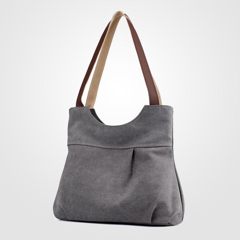 简约女包帆布包休闲百搭女士单肩包韩版文艺范购物袋式手提挎包