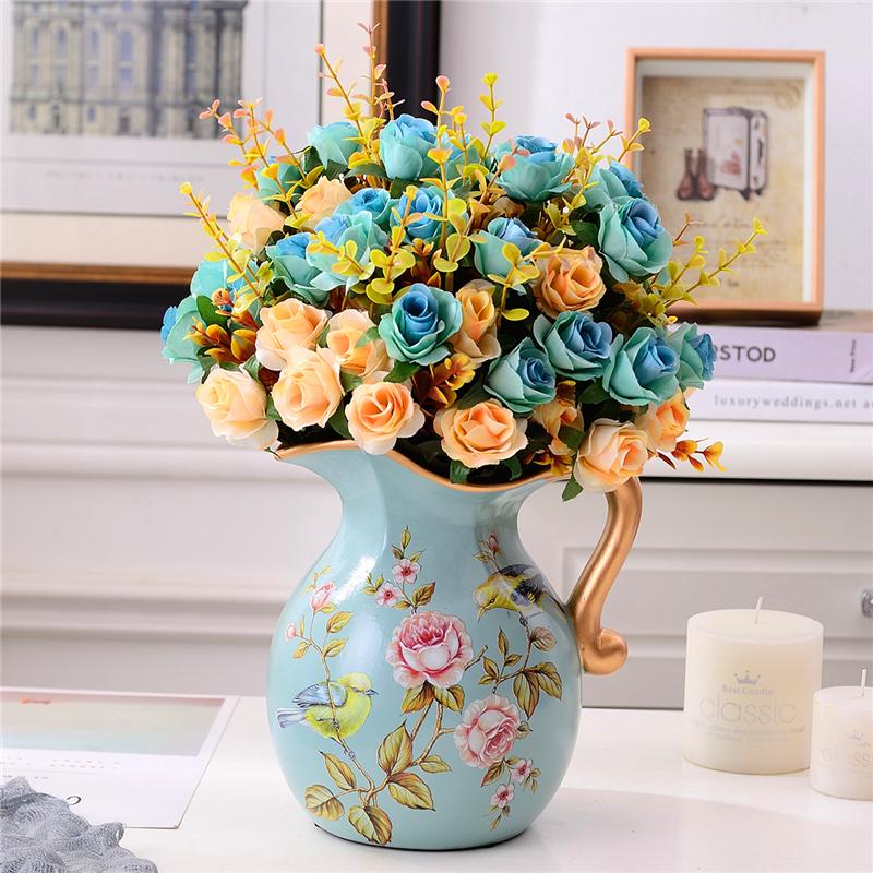 陶瓷花瓶美式小清新客厅简约家居室内房间餐厅餐桌插花装饰品摆件