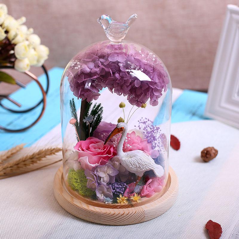 Jane Flowers 进口永生花礼盒,送女朋友生日礼物送闺蜜