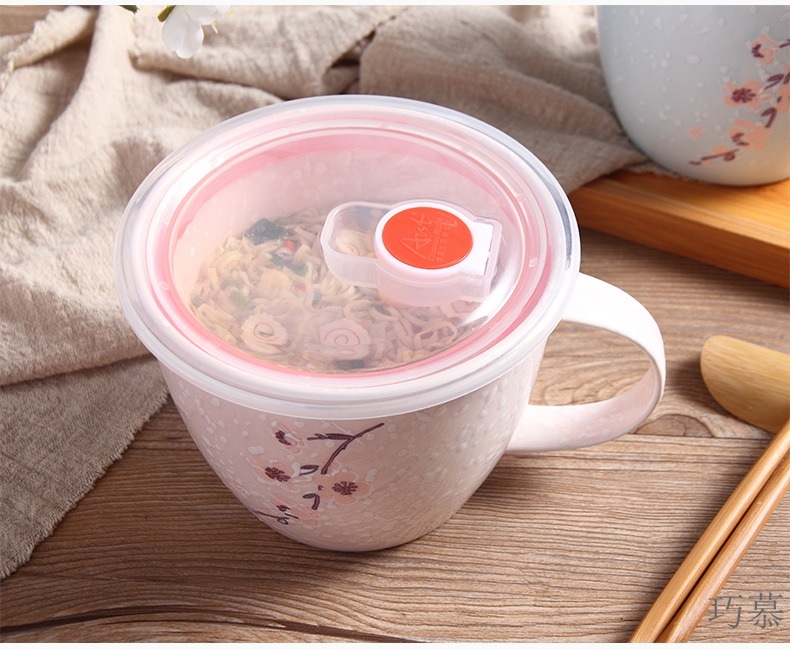 For large capacity mark opportunely ceramic cup with cover contracted creative breakfast cup of household water cup coffee lovers