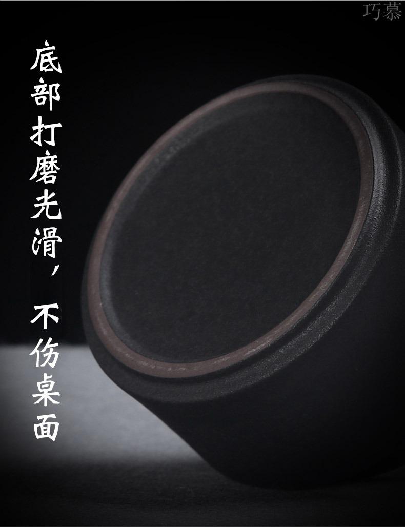 Qiao MuMing guest ceramic tea pot seal pot of black metal cover POTS storage medium black tea pu - erh tea POTS