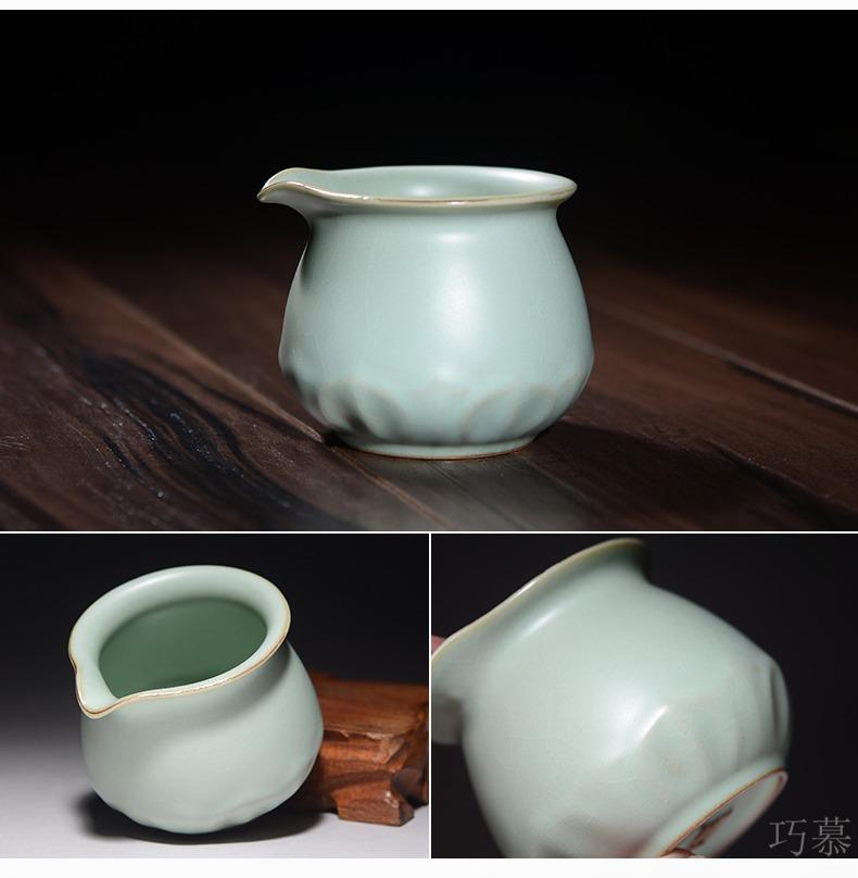 Qiao mu CMJ your up just a cup of tea kung fu tea tea tray tea accessories your porcelain the azure sea ceramics wafer