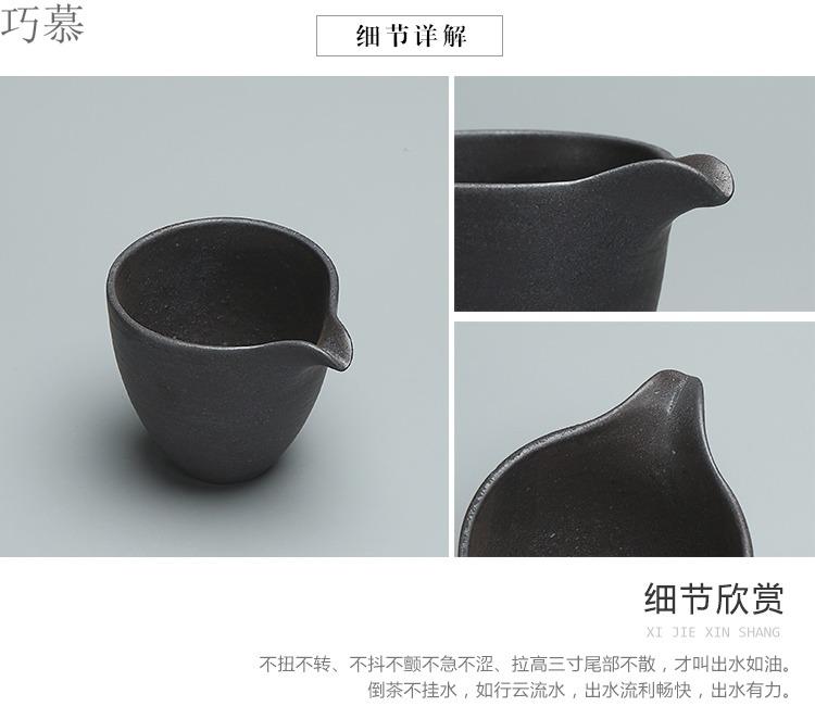 Qiao mu silver spot manual see colour fair keller of tea sea kung fu tea set coarse after getting tea tea ware