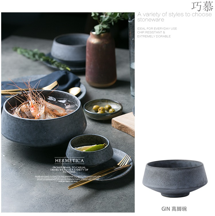 Qiao mu DY western - style tableware of pottery and porcelain bowl bowl salad bowl of soup bowl dish restoring ancient ways is irregular fruit bowl of noodles bowl