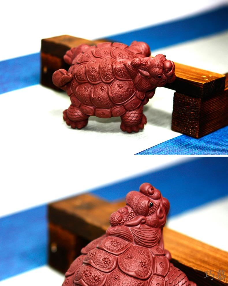 Qiao mu QD [] purple sand tea pet dragon turtle its tea pet furnishing articles furnishing articles in hundred turtle turtle longevity tea gift of tea