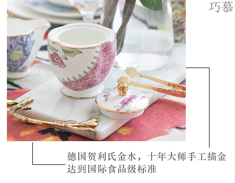 Qiao mu points ou ceramic English afternoon tea sets of ipads China coffee cups and saucers rural retro black tea cup