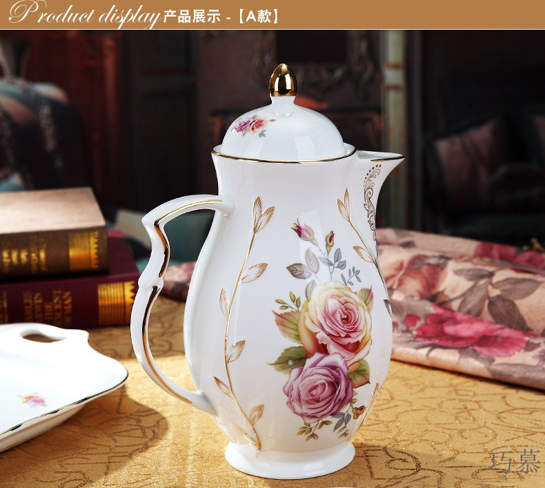 Qiao mu European ceramic water set suit heat - resistant glass cup ultimately responds with cover with cold water to cool the kettle home match