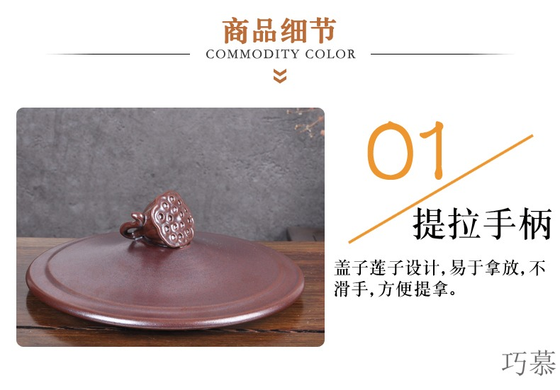 Qiao mu jingdezhen ceramic barrel ricer box sealing caddy fixings 30 kilo meters can store content box moistureproof insect - resistant meter altar