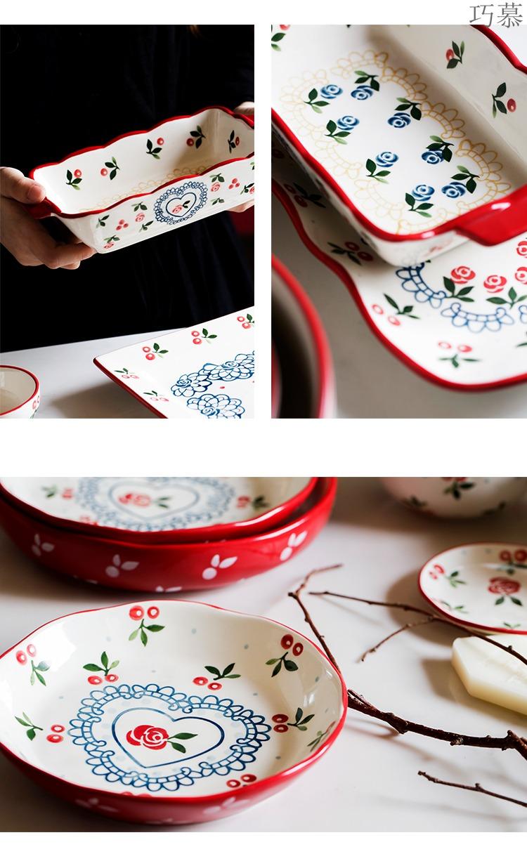 Qiao mu LH home Japanese creative hand - made dishes suit household ceramic rice bowl bowl dish dish pan fish dish