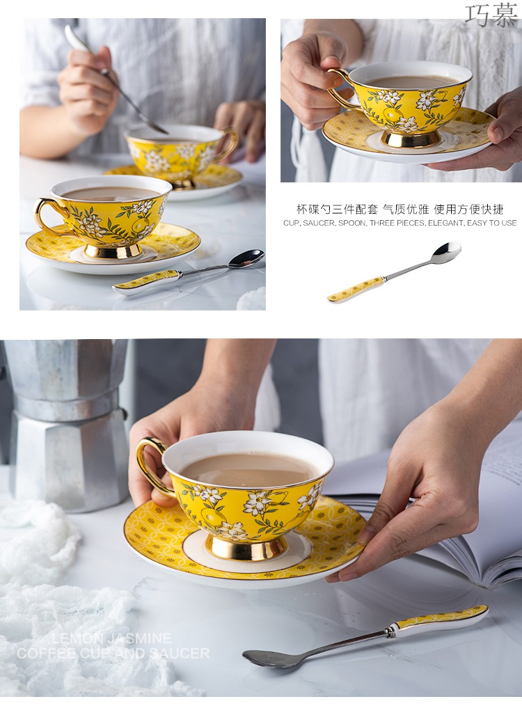 Clever longed for European ceramic cup tea tea cup set of British fashion household mark cup of water glass