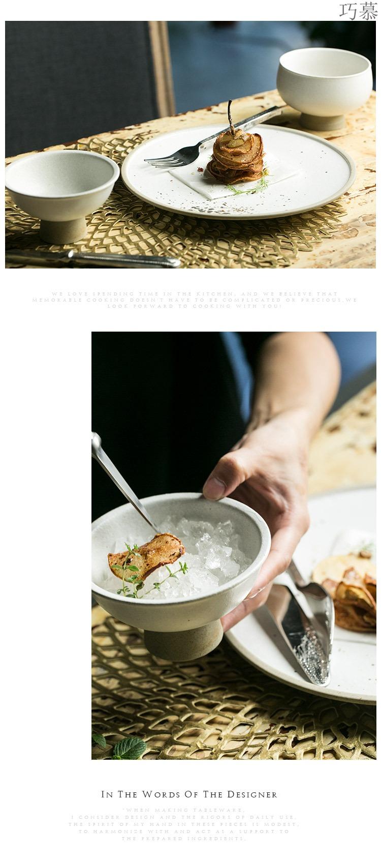 Qiao mu DY creative ceramic disc beefsteak plate household fruit bowl restaurant tableware dish dish dessert dish plates