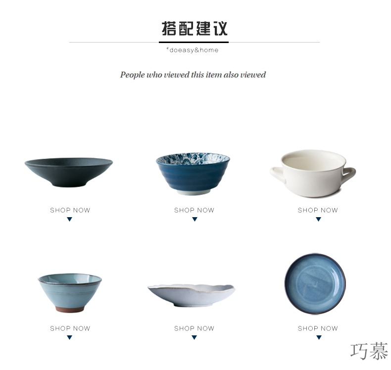Qiao mu creative hand - made ceramic bowl with tureen tableware bowls bowl rainbow such as bowl home stew rice bowls tureen