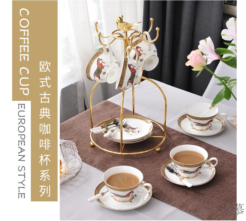 For European coffee cup set to restore ancient ways small key-2 luxury creative ceramic red cup English afternoon tea tea set